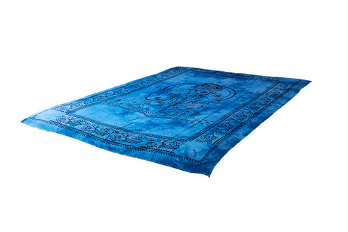 Ganesha Blue Mandala Tapestry Bohemian Wall Hanging Throw Dorm Decor