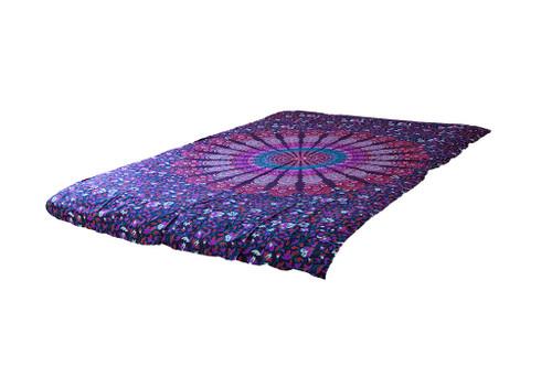 Purple Psychedelic Mandala Tapestry Bohemian Wall Hanging Throw Dorm Decor