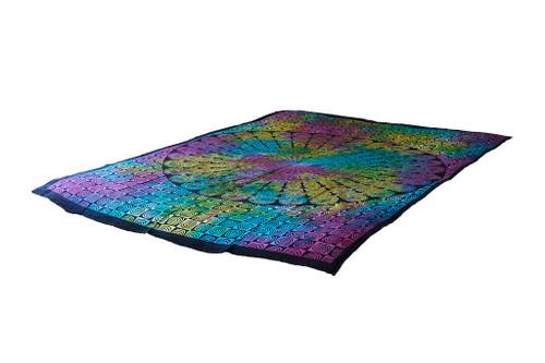 Twin Multi-color Spiral Mandala Tapestry Bohemian Wall Hanging Throw Dorm Decor