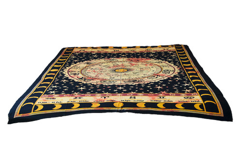 Twin Black Sun Sign Mandala Tapestry Bohemian Wall Hanging Throw Dorm Decor