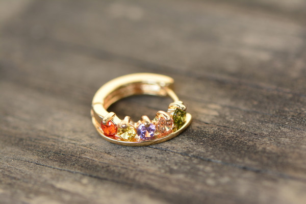 18K Gold Crown Zircon AAA Designer Brass Earrings