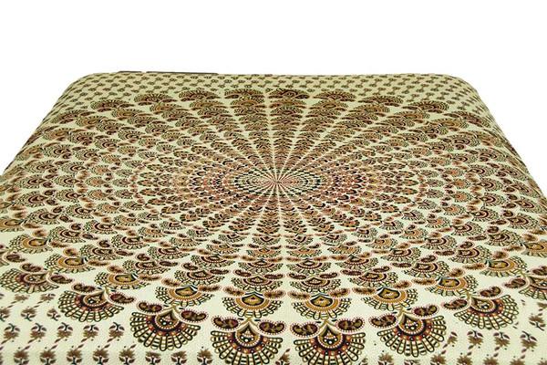 Hippie Mustard Cream Mandala Tapestry Bohemian Wall Hanging Throw Dorm Decor