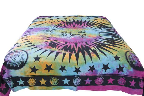 Hippie Tie-Dye Sun Mandala Tapestry Bohemian Wall Hanging Throw Dorm Decor