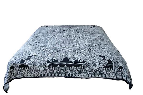 Hippie Black White Healing Mandala Tapestry Bohemian Wall Hanging Decor