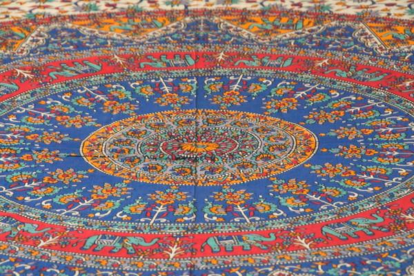 Blue Mandala Tapestry Bohemian Wall Hanging Throw Dorm Decor