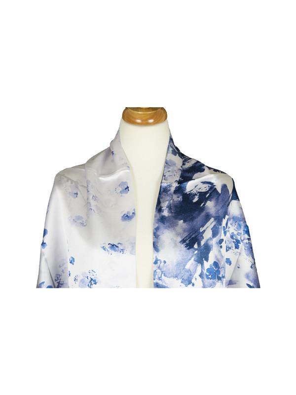 AamiraA Flint Blossom Mulberry Satin Silk Stole Women Square Scarf