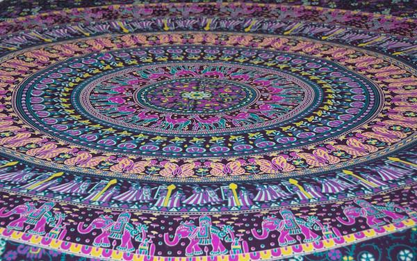 Hippie Intricate Mandala Tapestry Bohemian Wall Hanging Throw Dorm Decor