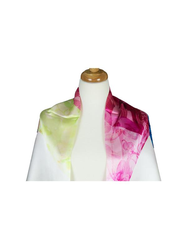 AamiraA Stripes Mulberry Satin Silk Stole Women Square Scarf
