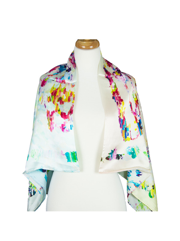 AamiraA Lady Mulberry Satin Silk Stole Women Square Scarf