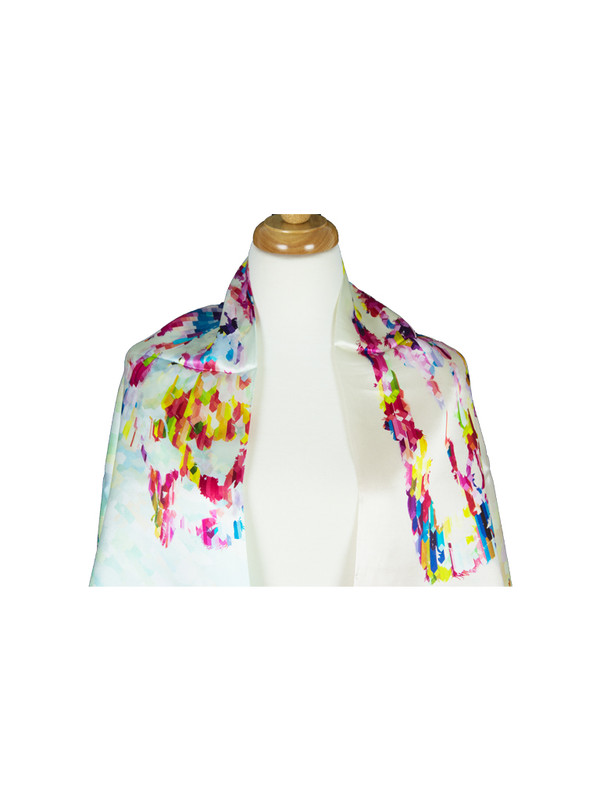 Lady Mulberry Satin Silk Stole Women Square Scarf