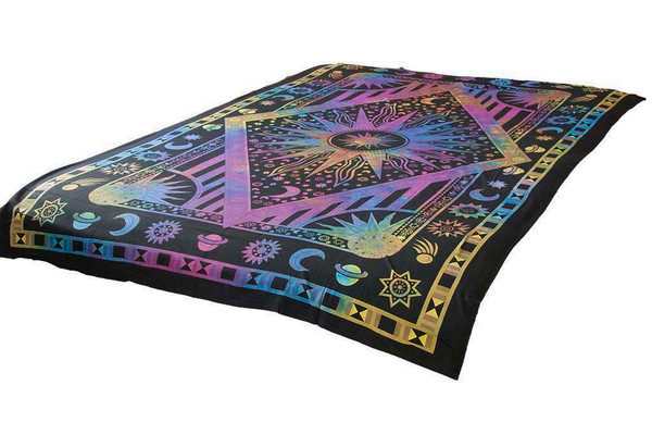 Tie-Dye Universe Mandala Tapestry Bohemian Wall Hanging Throw Dorm Decor