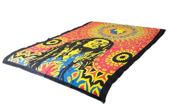 Bob Marley Blue Mandala Tapestry Bohemian Wall Hanging Throw Dorm Decor