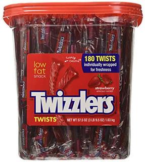 Twizzler Strawberry Twists Tub 180 Pieces - 1.63kg!