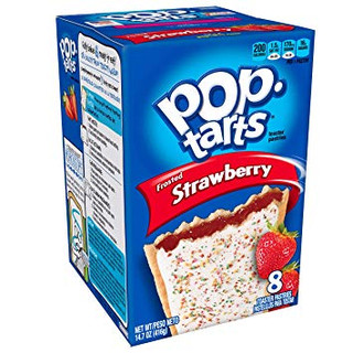Pop Tarts Frosted Strawberry - 8 Pack Net 384g