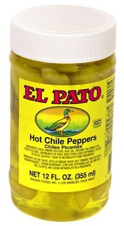 El Pato Yellow Hot Chili Peppers 340g