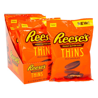 Reeses THiNS Peanut Butter Cups 87g - Individually Wrapped