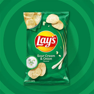 Lays Sour Cream & Onion Chips 184.2g