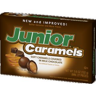 Junior Caramels Milk Chocolate covered caramels 102g