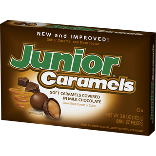 Junior Caramels Milk Chocolate covered caramels 102g