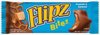 Flipz Bites Milk Chocolate Caramel and Pretzel 43g
