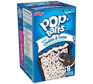 Pop Tarts - Frosted Cookies & Creme - 8 Pack Toaster Pastries