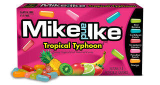 Mike and Ike Tropical Typhoon Fruit Candies 141g