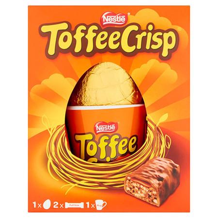 Nestle Toffee Crisp Milk Chocolate Egg + Mug + 2 Bars 176g