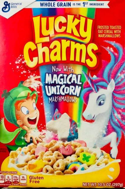 General Mills Lucky Charms Cereal Box With Marshmallows