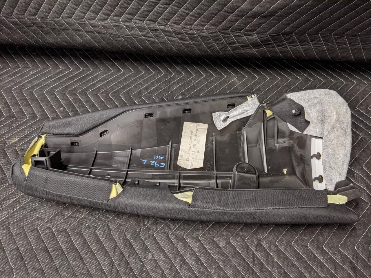 BMW E92 3-Series Coupe Rear Seat Bolster Left Sensatec Black 6738253
