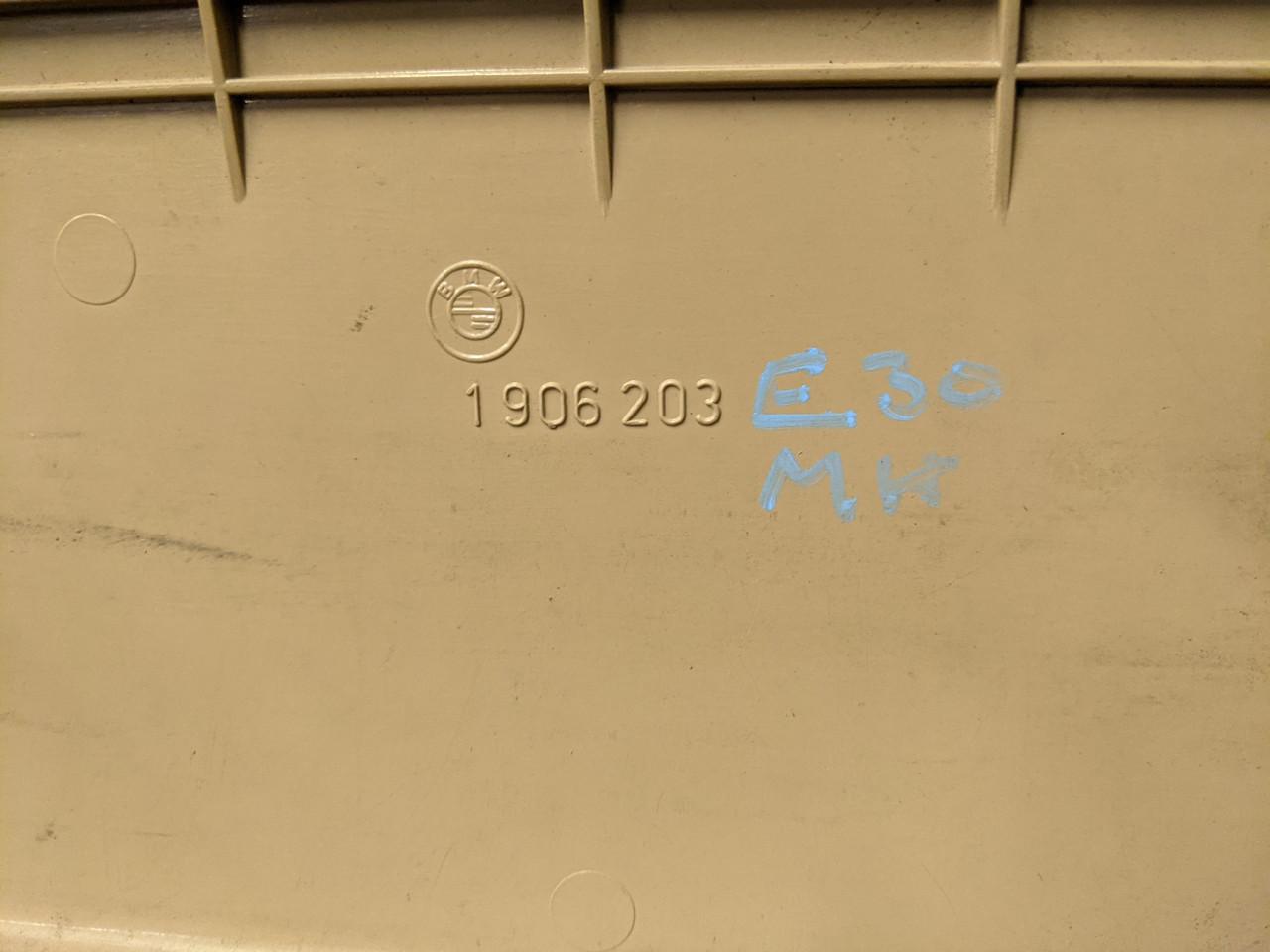 BMW E30 3-Series Door Map Pocket Left Driver Beige 1906203