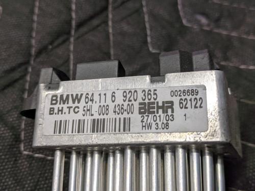 BMW E39/E46/E53/E83 X3 X5 Blower Fan Resistor Behr 64116920365