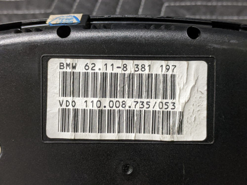 BMW E39 5-Series Speedometer Instrument Cluster VDO 62118381197