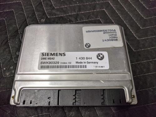 BMW E46 3-Series Steering Column Lock Key EWS DME/ECU 12141430848