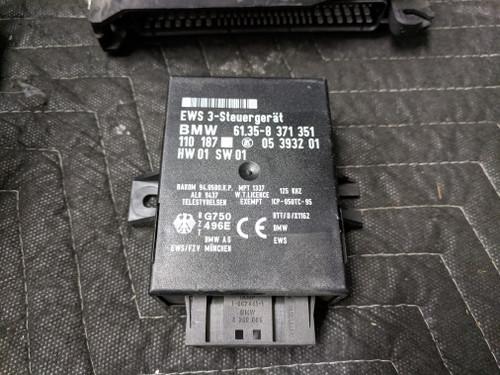BMW E38 740iL Interlock Steering Lock WIth DME/ECU EWS Key 1094726