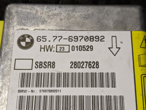 BMW E65/E66/E67 7-Series B-Pillar Sensor 65776970892