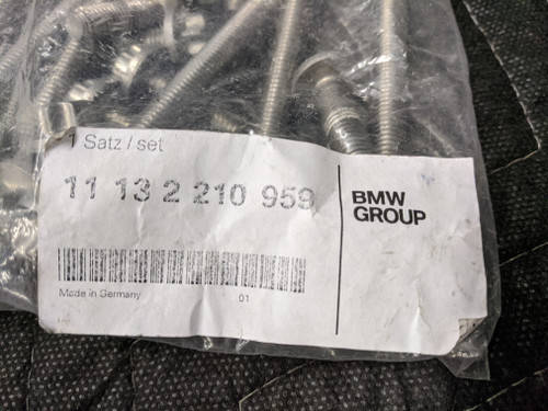 BMW E60/E65/E90 Aluminum Oil Pan Screw Set 11132210959