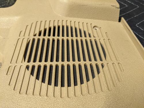 BMWE E30 3-Series Convertible Lower Kick Panel Speaker Cover Left Beige 51431926499