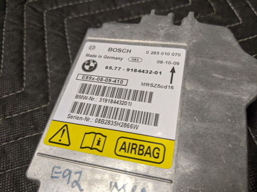 BMW E90/E91/E92 3-Series Control Unit SRS 65779184432