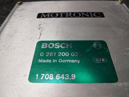 BMW E30 DME ECU Motronic Engine Control Module Bosch 12141708643