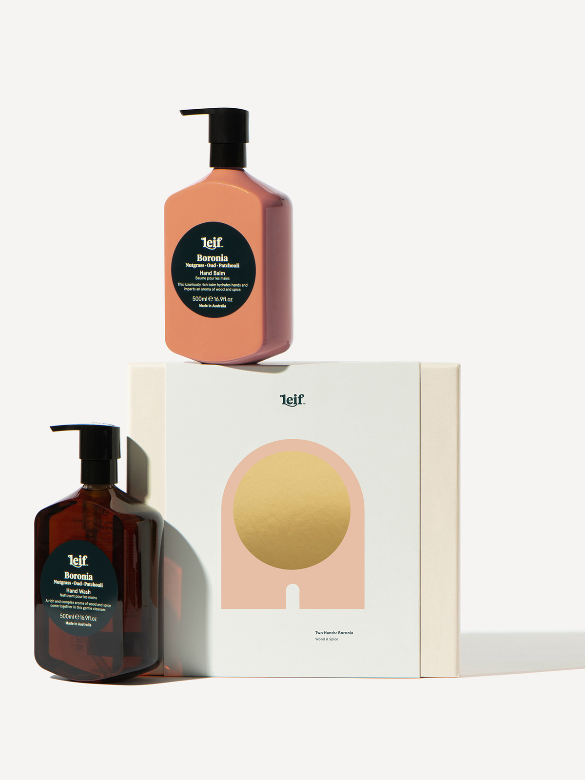 Leif Two Hands Boronia Gift Set from Merchant and Green