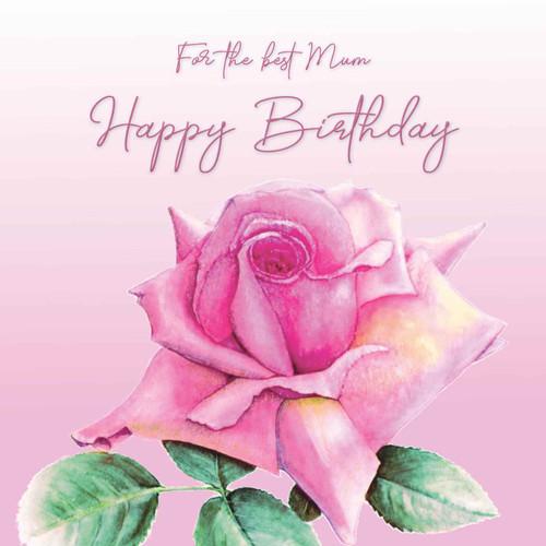 mum birthday greeting card beautiful pink