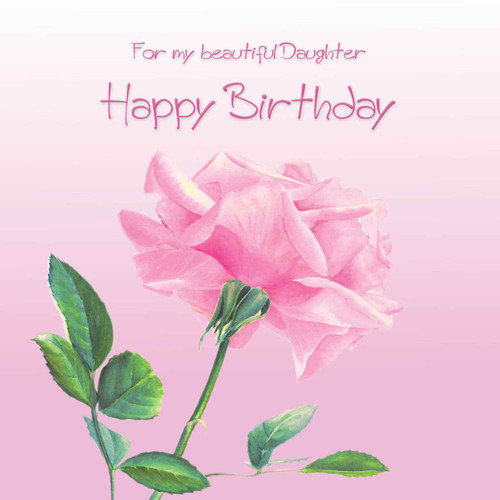 daughter birthday greeting card beautiful pale