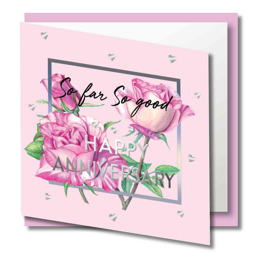 Quality Card with Silver Frame and Text. Printed on 300gsm smooth paper with a luxury Finish Supplied with  quality CREAM envelope in protective Cello