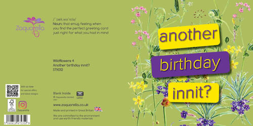 Happy Birthday  Trendy Modern Floral Another Birthday Innit Wildflowers Black Background Pink Text