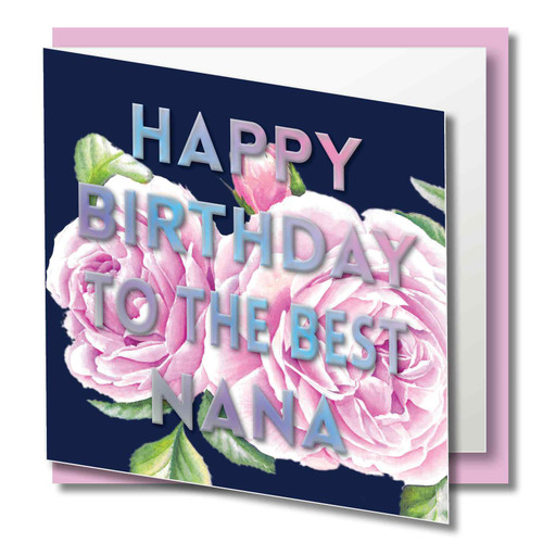 Quality Card, Brilliant Colours, Coulred Siver Foil - Printed on 300gsm smooth paper with a luxury Finish Supplied with  quality CREAM envelope in protective Cello
