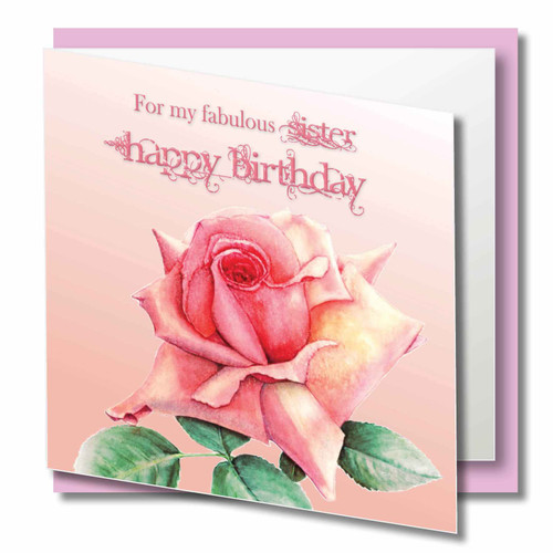Sister Birthday  - For my Special Sister Happy Birthday - Beautiful Pink Rose