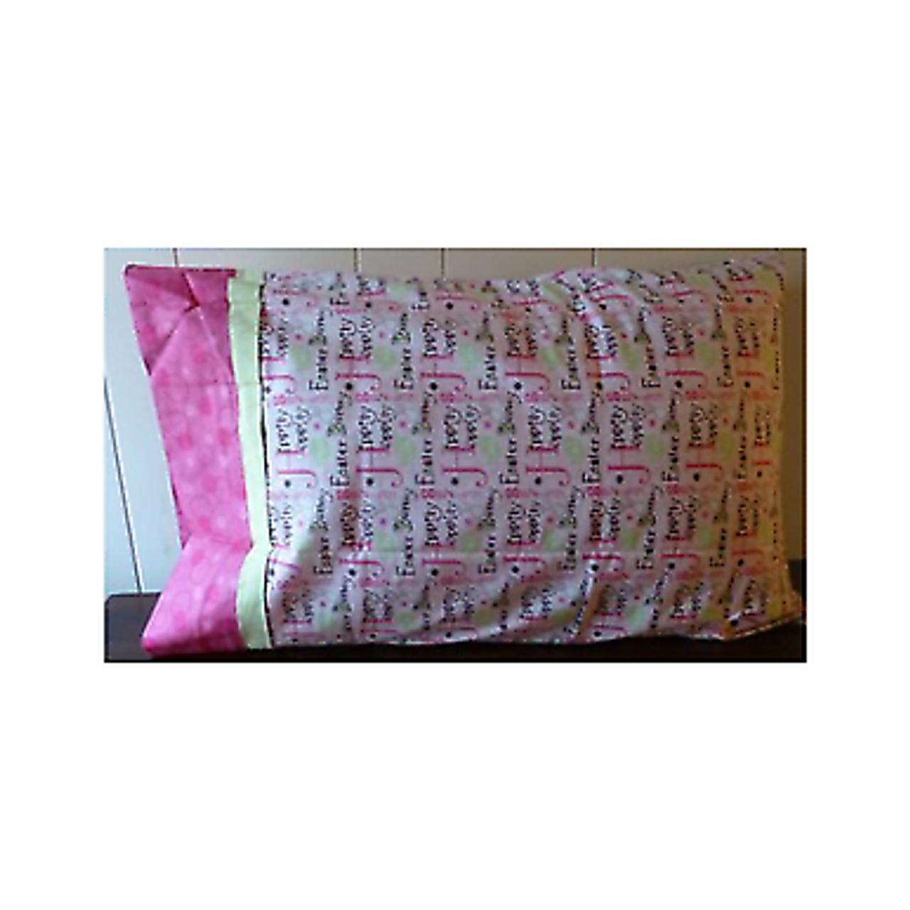 Travel Pillow Case  Child Pillow Case  Meet the Flintstones  Square Pillow Cover  Standard or Queen Pillow Case