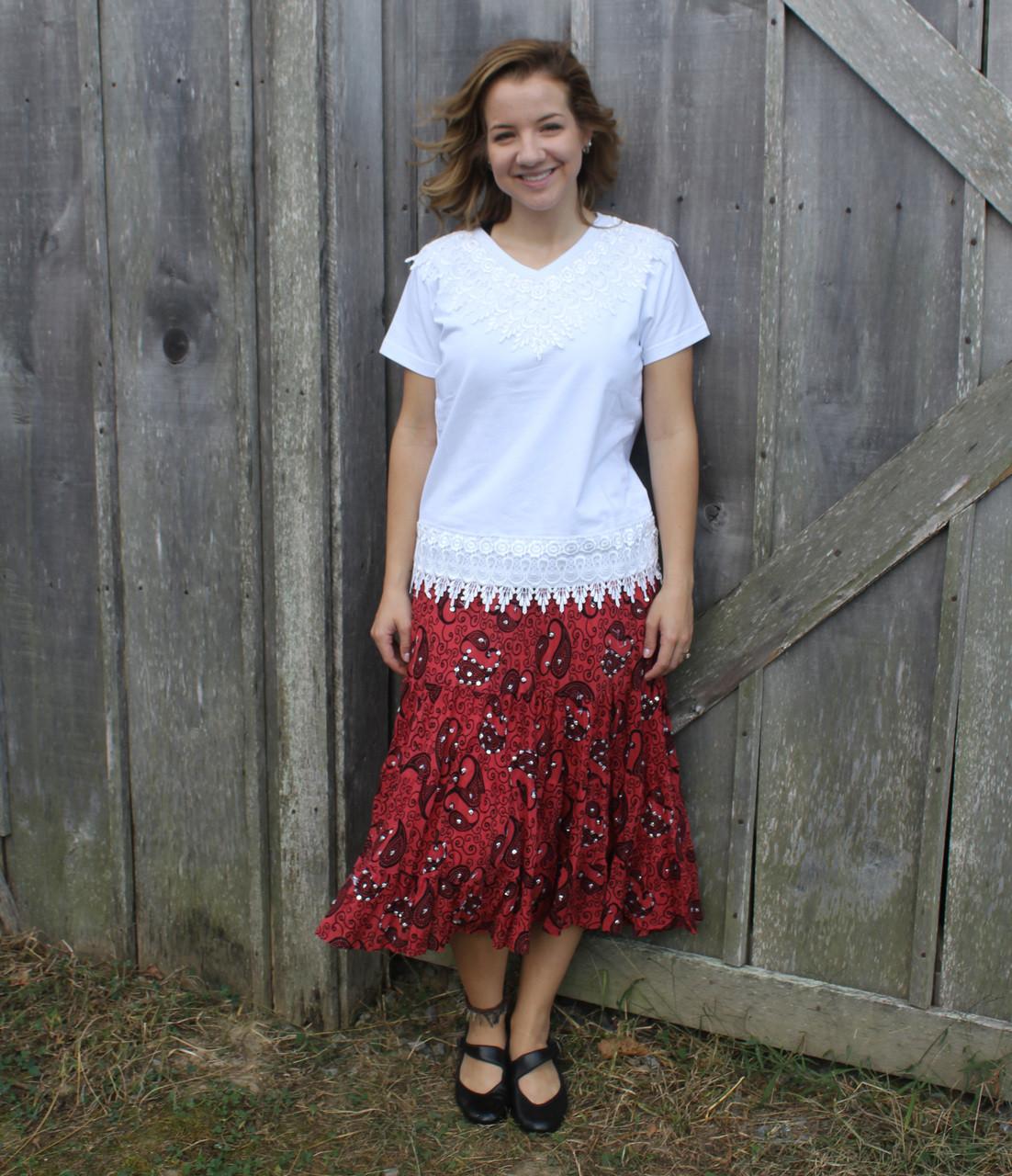 a92d3adabb 7957R Red Short Sequin Skirt - Brantleys Western & Casual Wear