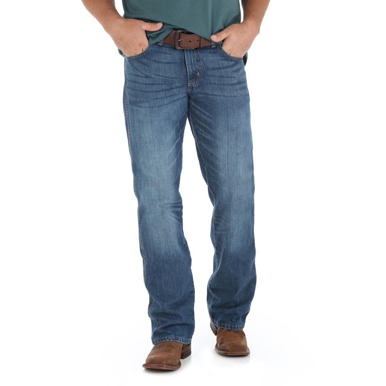 5bf68615 WRT20TB Wrangler Men's Retro Relaxed-Fit Bootcut Jean True Blue - Brantleys  Western & Casual Wear