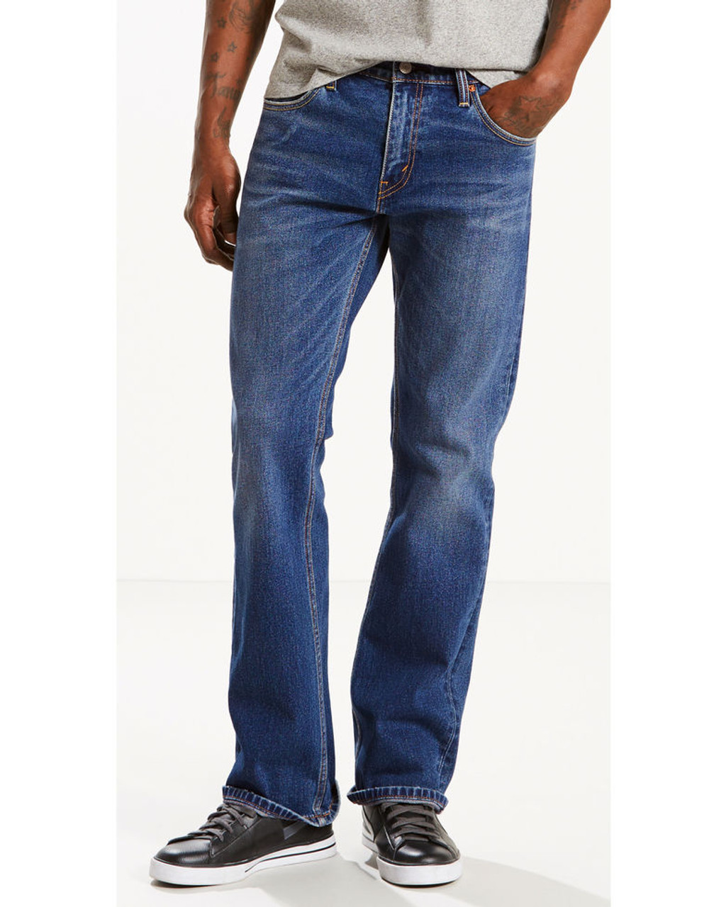 c898c6cb897 527-0489 Slim Fit Stonewash Boot Cut Stretch Jeans